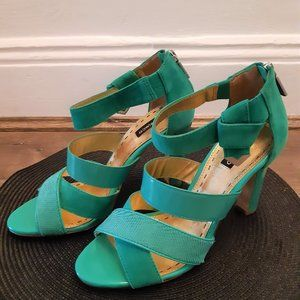 MIMCO GREEN SANDALS SHOES LEATHER WEDDING ELEGANT